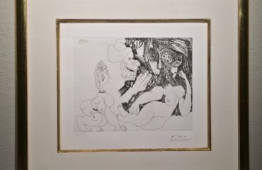 Grimacing Man and Two Nudes, from the 156 series by Pablo Picasso
