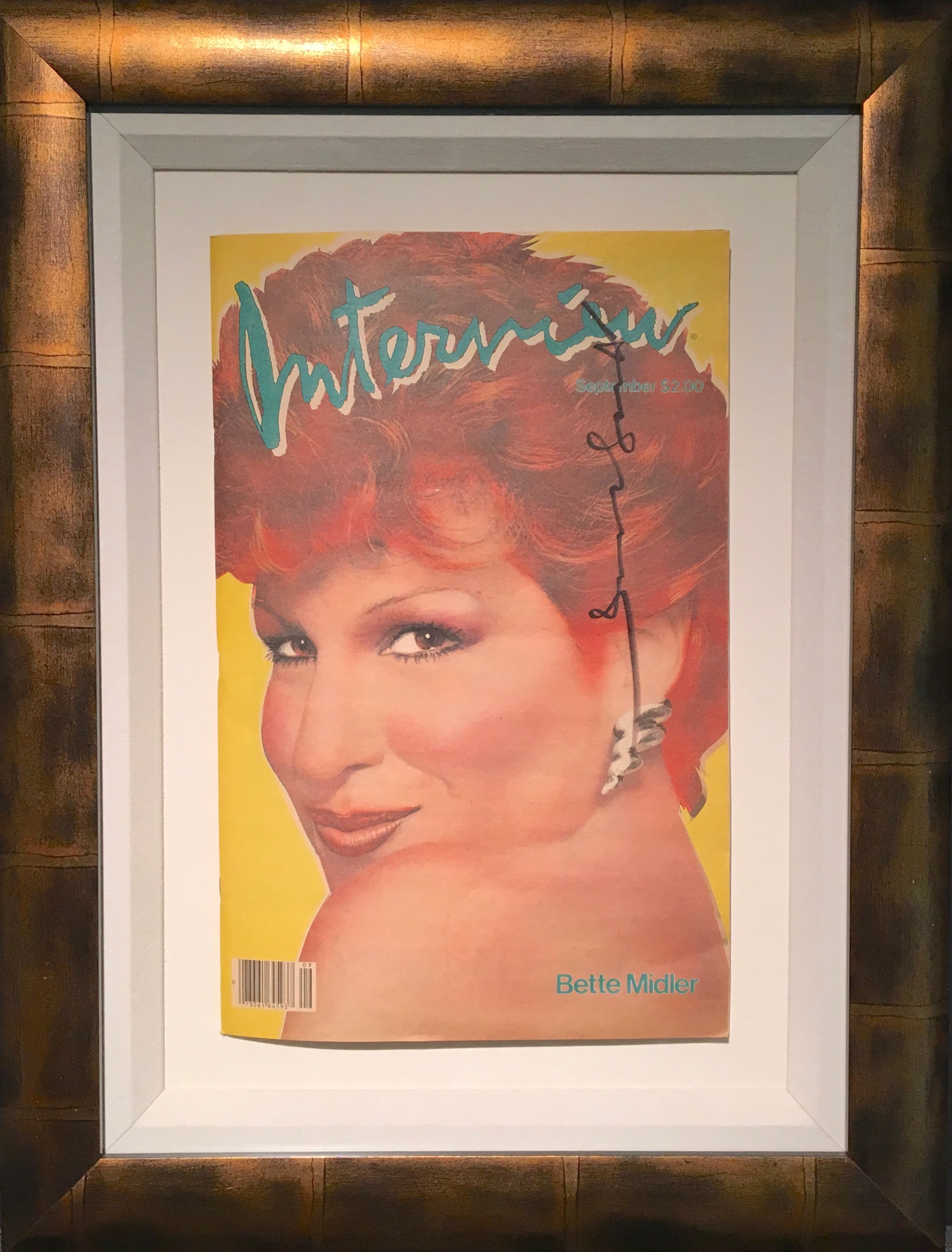 Limo For Sale >> Interview Magazine - Bette Midler 1982 - Signed by Andy ...