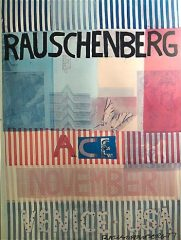 Ace, November, Venice, USA – 1977 exhibition poster by Robert Rauschenberg