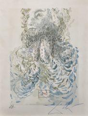 Caccisguida Sees Dante's Exile In God – Canto #17 – Paradise by Salvador Dali