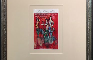Signed 1966 Metropolitan Opera Lincoln Center Hand Bill by Marc Chagall