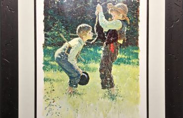 Adventures of Tom Sawyer (the dead cat) by Norman Rockwell