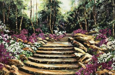 Garden Steps by Ginger Cook