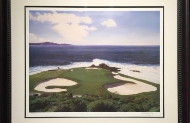 7th At Pebble Beach by Danny Day (Framed)