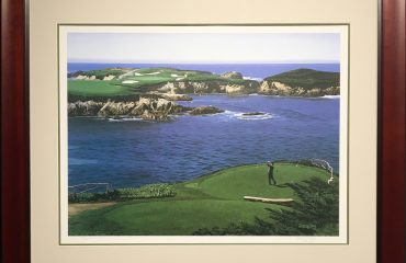 16th At Cypress Point by Danny Day (Framed)