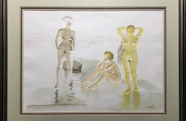 Three Graces of Cova d'Or by Salvador Dali
